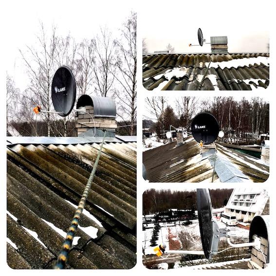 Установка спутниковой антенны в Петергофе